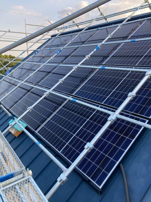 モデルハウス 太陽光パネル